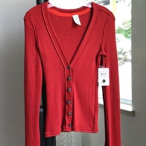Free People Cardigan - Red